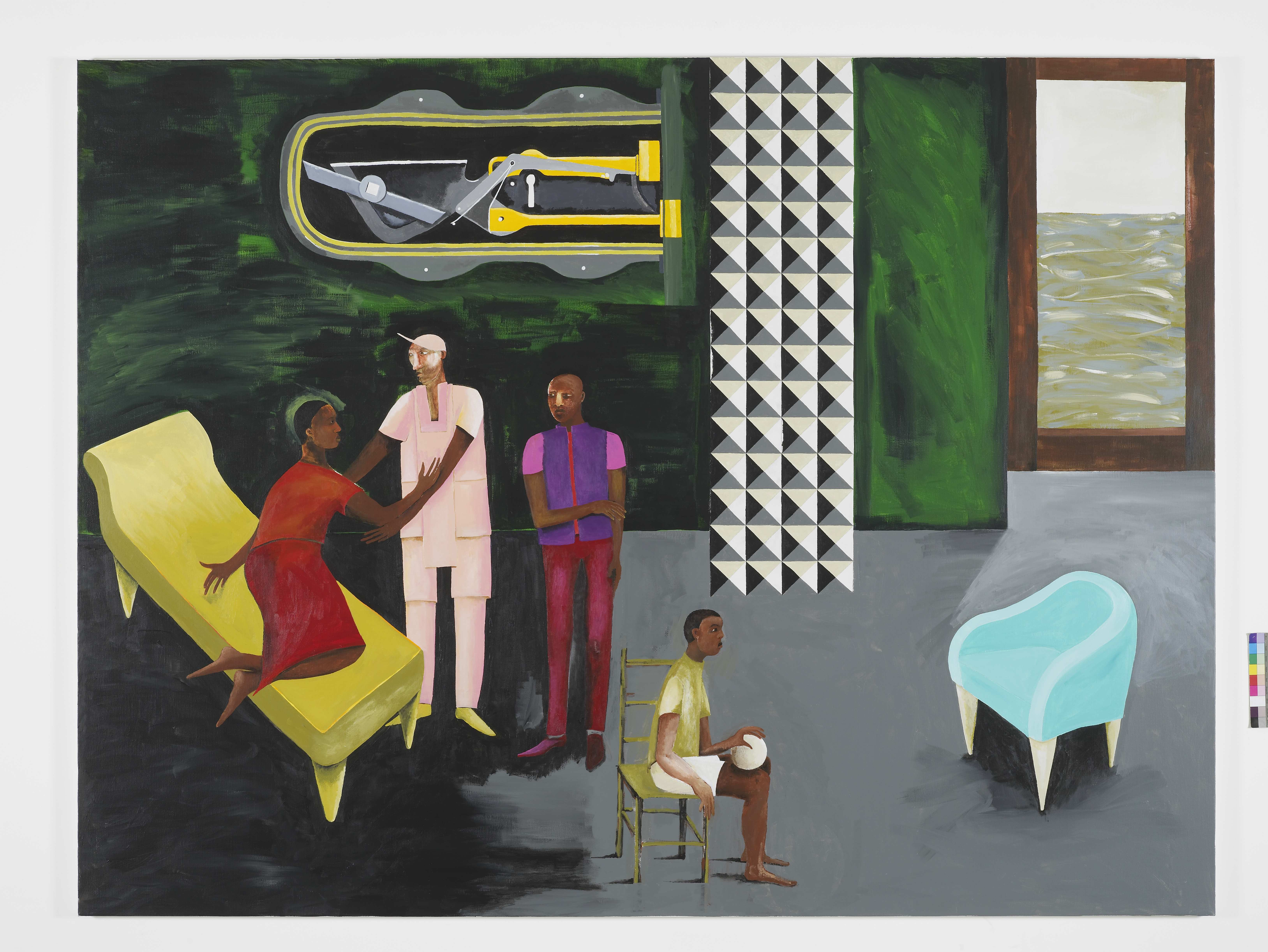 Lubaina Himid, Le Rodeur: (The Lock), 2016. Courtesy of the artist and Hollybush Gardens