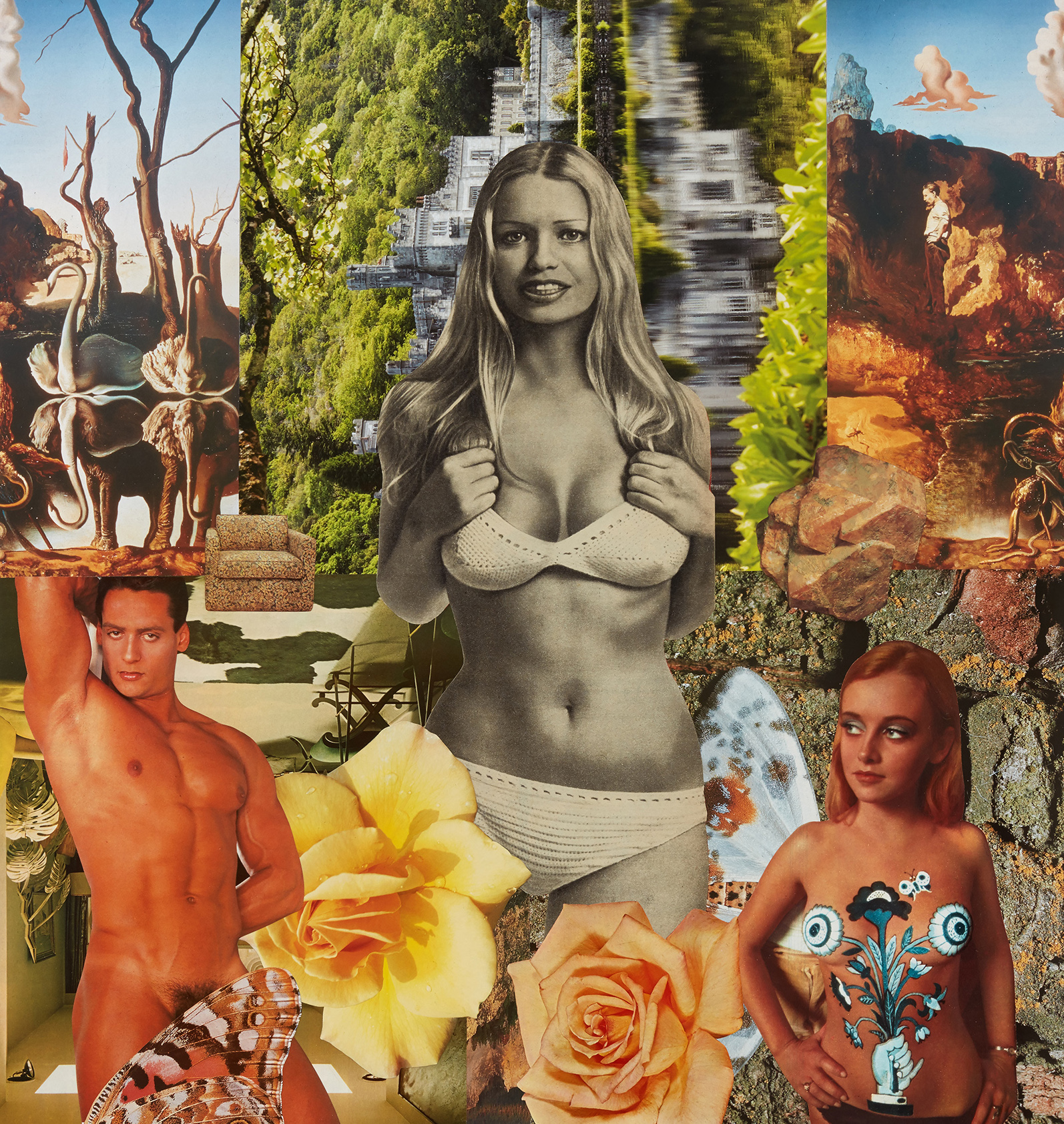 Daughter of the Waters, 2017, photomontage on paper (Image copyright of the artist and courtesy Stuart Shave & Modern Art, London)