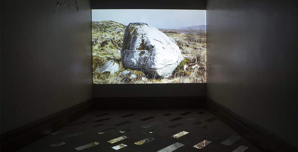 Jennifer Wicks and Marion Ferguson, 'Rannoch, eclogue', Mirror, HD video, 2017. Hidden Door Festival, Edinburgh.