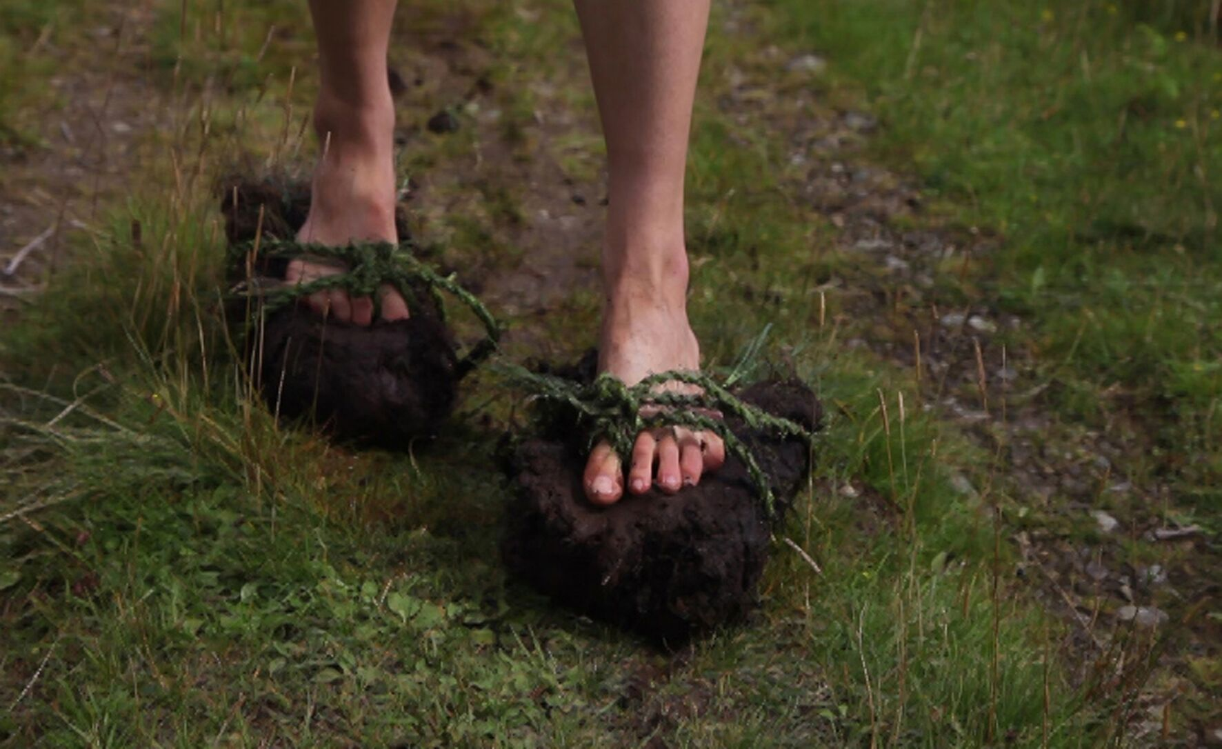 Jessica Ramm, 'Walking of the Peats' (performance video still). Image: Jessica Ramm and Talitha Kotze