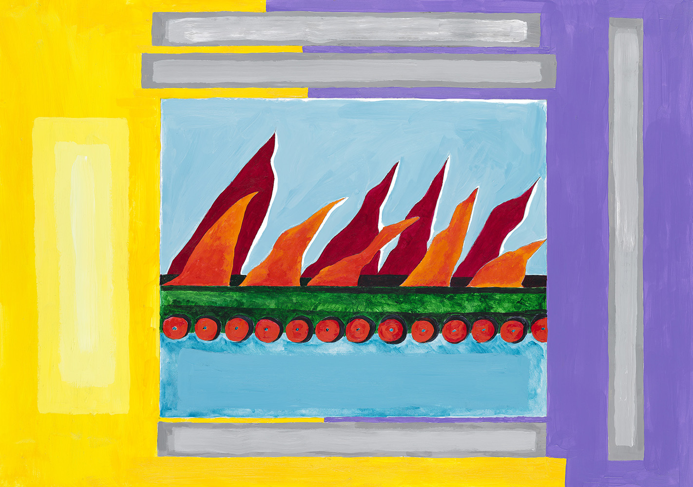 Lubaina Himid, 'Breaking in Breaking out Breaking up Breaking down', 2018 limited edition available in GI Shop (This is not the same work that will be on display at Kelvingrove)