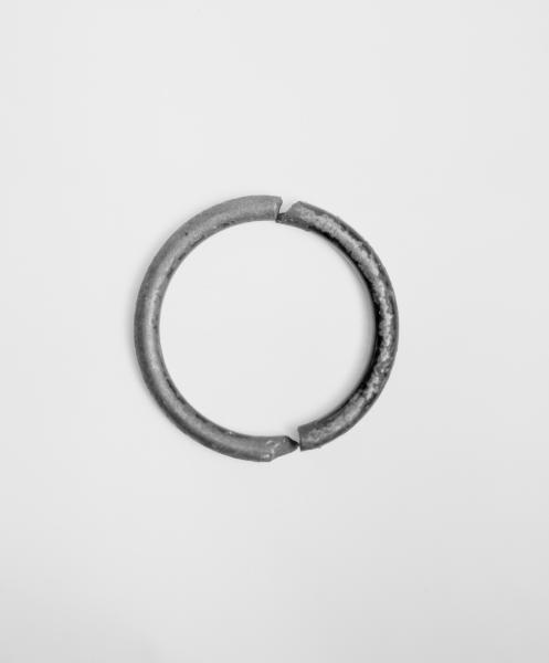 Rusty silver hoop